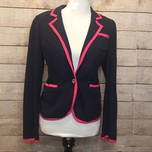 Lilly Pulitzer blazer jacket pink and navy